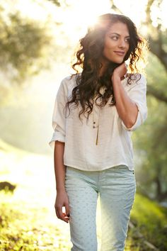 Inbar Lavi by Benny Haddad Cute outfit at the park