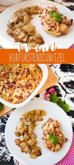 Deftiges Low Carb Gericht: Kurfürstenschnitzel an Bratkohlrabi www.lowcarbkoestlichkeiten.de