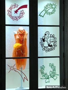 Vinilos Decorativos: Estrella Navidad Decorar escaparate tienda #escaparate #decorar #navidad #vinilo #cristal #nieve #tienda #bar #restaurante #TeleAdhesivo