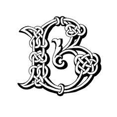 Celtic Lettre B - Illustration vectorielle