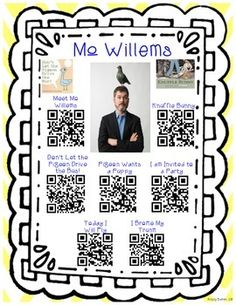 This will fit in perfectly with an author study on Mo Willems. I will use it in my listening center for Daily 5. It has 6 different QR code stories and 1 QR code video to introduce Mo Willems.