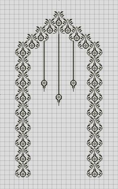 Exceptional Stitches Make a Crochet Hat Ideas. Extraordinary Stitches Make a Crochet Hat Ideas. Cross Stitching, Cross Stitch Embroidery, Embroidery Patterns, Cross Stitch Patterns, Stitch Crochet, Filet Crochet, Crochet Stitches, Crochet Shawl, Arabesque Pattern
