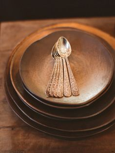 Antique spoons & wood bowls