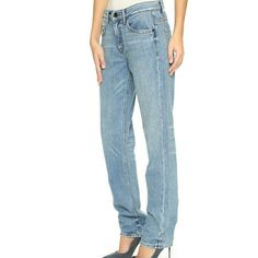 Hemlut Lang Relaxed Tapered Jeans NWT, Mid-rise jeans, has a faint stain on leg, please see last pic. Helmut Lang Jeans Straight Leg