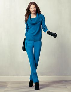 Do this with your BR blue trousers and cobalt sweater, or something colorful!