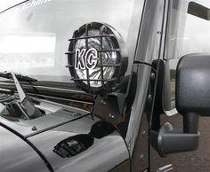 KC HiLiTES 7316 2007-2013 Jeep Wrangler JK Windshield Hinge Light Mount Brackets