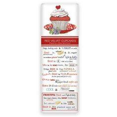 Red Velvet Valentine's Cupcake Recipe Towel