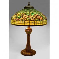 Tiffany Studios, Dogwood Table Lamp, #1491 And #368
