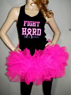 Hey, I found this really awesome Etsy listing at https://www.etsy.com/listing/163042635/breast-cancer-awareness-tutu-and-tank