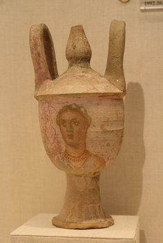 Terracotta lebes gamikos (jar associated with weddings) with lid |  Greek ,Sicilian  3rd cent.BC