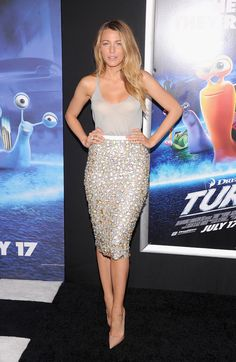 Blake Lively in Burberry Prorsum at the 'Turbo' NYC Premiere