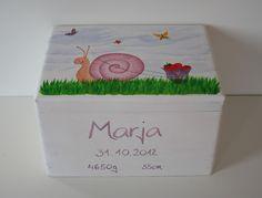 Kisten & Boxen - Spitzbub Erinnerungskiste - Erdbeerschnecke - ein Designerstück von Spitzbub bei DaWanda