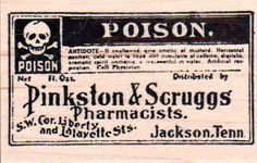 New Holtz Stampers Anonymous Rubber Stamp Vintage Poison Label Halloween Mounted