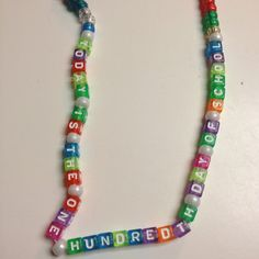 One hundredth day of school necklace