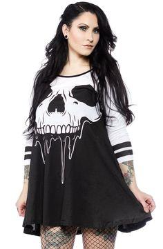 IRON FIST FACE MELTER TRAPEZE DRESS $50.00 #ironfist #dress #trapezedress #skull #monster