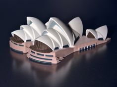 #3d #Printed architectural model of Sydney Opera House. http://www.mylocal3dprinting.com