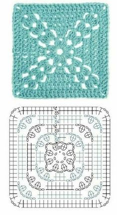 Beautiful granny square with p
