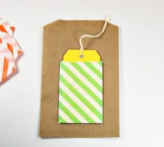 Small Striped Paper Bags Gift Favor Bags