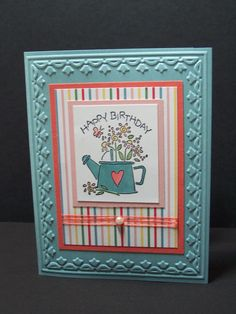 Birthday Card - Stampin Up Nice & Easy Notes Stamp