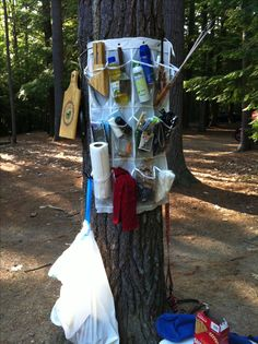 "Camping organization- If Curtis saw this he would never let me hear the end of it. It's not ""real"" camping stuff lol"