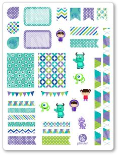 Monster Friends Decorating Kit / Weekly Spread by KGPlanner