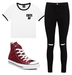 """Untitled #3"" by riaaaaaaaaaaaa on Polyvore featuring Boohoo and Converse"