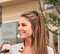 """Watch as """"Extra"""" host Maria Menounos and her makeup artist Francine take you through a step-by-step tutorial on how to achieve Maria's stylish french braid look!"""