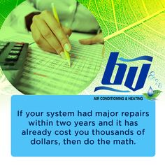 Instead of continuing to spend more money on an old and malfunctioning HVAC, consider getting a new unit. For sure, it's a wise move in that situation and your wallet will thank you later. The Unit, Personal Care, Money, Wallet, Math, Tips, Pocket Wallet, Mathematics, Advice