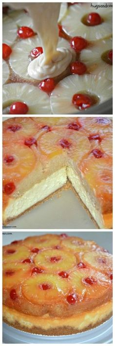Pineapple Upside Down Cheesecake...my brother Brian wants me to make this Thanksgiving. Looks like a lot of work, but I might try it.
