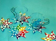 This Paper Craft Is A Modular Origami Diamond Star Coaster Designed By
