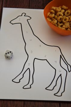 Toddler Approved!: Giraffe Spots Number Game