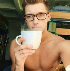 Remy Dawes from Second Chances Coffee Drinks, Drinking Coffee, Book Characters, Romance, Second Chances, Glasses, Men, Books, Eyewear