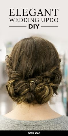 This elegant wedding updo DIY actually has three different hairstyles — one for the ceremony, one for the reception, and one for brunch the next morning! The best part? This hair tutorial is impossibly easy.