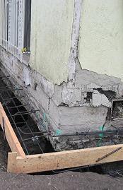 Underpinning operation increasing bearing area of foundation Foundation, Foundation Series