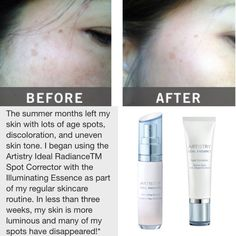 Artistry Ideal Radiance - before & after