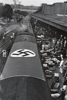Robert Capa. Departure of Chiang Kai-shek's German military advisors. Hankow, 1938