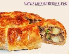 puff pastry stuffed with ground beef and veggie mixture
