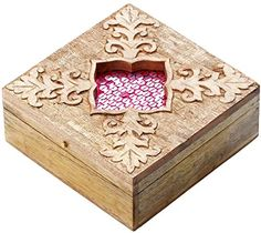 #SouvNear 6'' #Unfinished #Handmade #Wooden #Jewelry Box - #Brown  #Keepsake #Box With #Intricate #Floral #Carvings - #Personal #Storage #Treasure Chest - #Home #Decorative #DressingTable #Accessory - #Living room #Decor SouvNear http://www.amazon.com/dp/B00NTX3YFI/ref=cm_sw_r_pi_dp_xe6cwb034QYRY