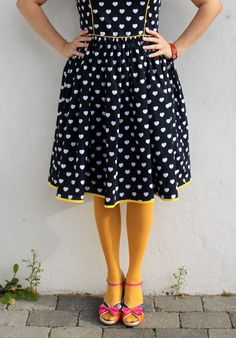 I have a major obsession with polka dots and mustard colored clothing