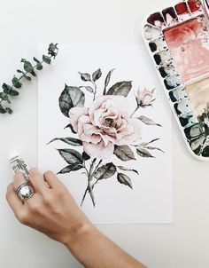 Floral print by Shealeen Louise