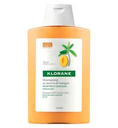 Nourishing Klorane mango butter - no silicones! And it's the best smelling one, IMO.