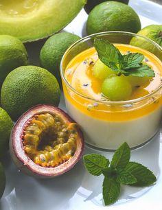 Guaven-Limetten-Mousse mit Passionsfrucht-Gelee