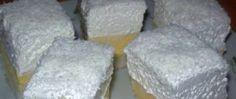 Kokosové krémové kostky