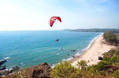 #ArambolBeach is one of the most charming beaches of #Goa. It is located about 50 km north of #Panaji. The cliffs near the #beaches are popular for #paragliding. We can enjoy the adventurous paragliding activity there. #holiday #adventure