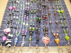 Fancy Beaded Lanyards Necklace Name Badge Holders | eBay