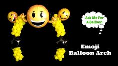 Table balloon arch with Emoji balloons. Join Tanya from Ask Me For A Balloon in this balloon decoration tutorial! More balloon decoration ideas with tutorial. Baloon Garland, Diy Garland, Balloon Decorations Party, Baby Shower Decorations, Balloon Arch, Balloons, Emoji Theme Party, Emoji Christmas, How To Make Balloon