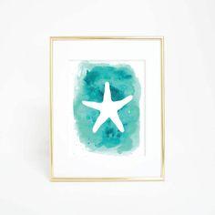 Starfish Artwork Starfish Decor Sea Star Prints