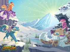 Animal Jam wallpaper Snow Leopards