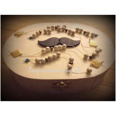 Μαρτυρικά βάπτισης ανδικά... μπεγλέρι με πέτρες χαολίτη, επίχρυσο σταυρουδάκι και γυάλινο ματάκι...Handmade.. Inspirations by Ef..