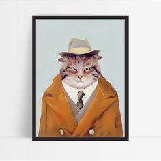 Hey, I found this really awesome Etsy listing at https://www.etsy.com/listing/250886712/framed-art-print-cat-decor-kids-wall